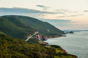 Cabot Trail on Cape Breton Island coast.